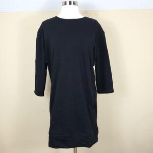 Athleta Black Cozy Karma Back Zip Dress